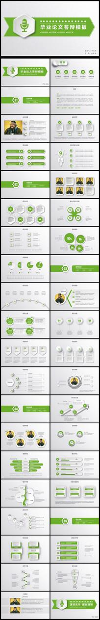 绿色大气简洁严谨毕业设计论文答辩PPT模板
