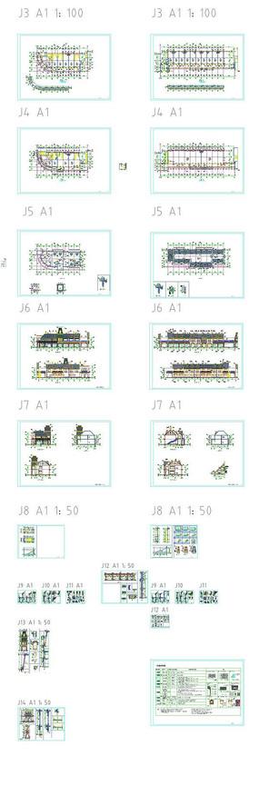 欧式别墅建筑设计CAD图