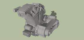 汽车发动机的SKP模型素材