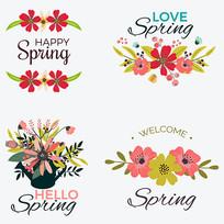 小清新花卉文字标题装饰
