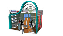 小型展示展览店面构筑区设计