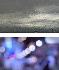 雨中孤独等待狂风骤雨街景视频