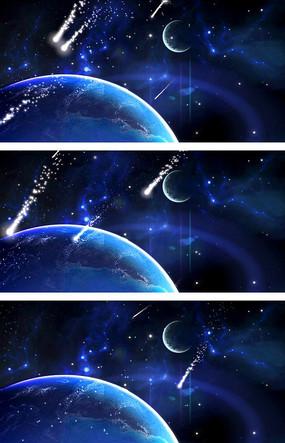 蓝色流星雨视频素材 蓝色流星雨视频素材 流星雨时尚名片设计 超炫