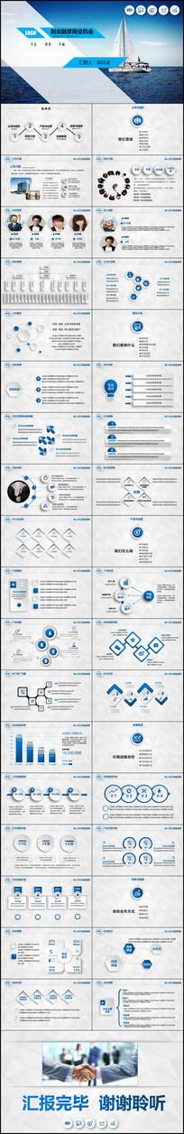 大气创业融资招商商业计划书PPT模板