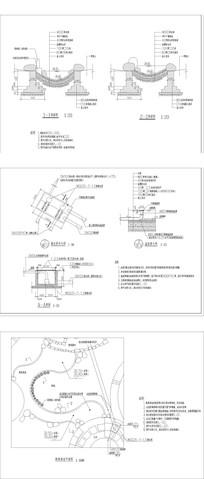 河道溪流施工图 CAD