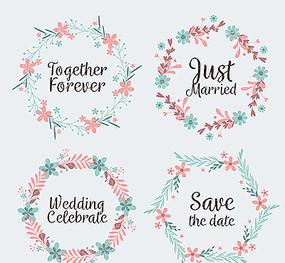 花环婚礼背景素材图片