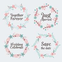 花环婚礼背景素材