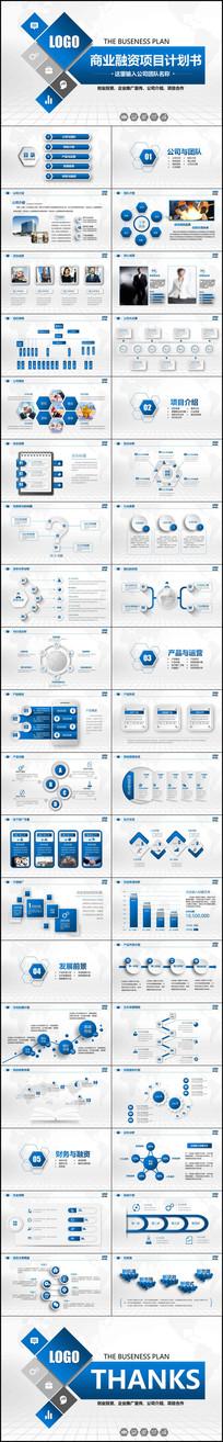 立体创业融资招商商业计划书PPT模板商业计划书