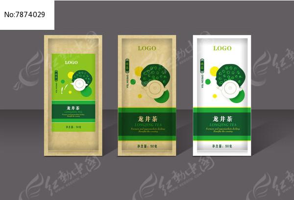 龙井茶茶叶包装设计图片