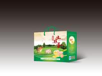 绿色土鸡蛋包装盒设计