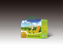 绿色玉米包装盒设计