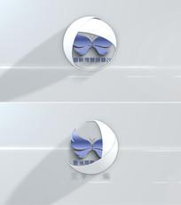 三维圆球旋转打开logo展示ae模板
