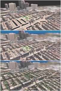 设计建设虚拟城市立体街道电影特效视频
