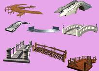 园林景观设计PSD分层素材桥