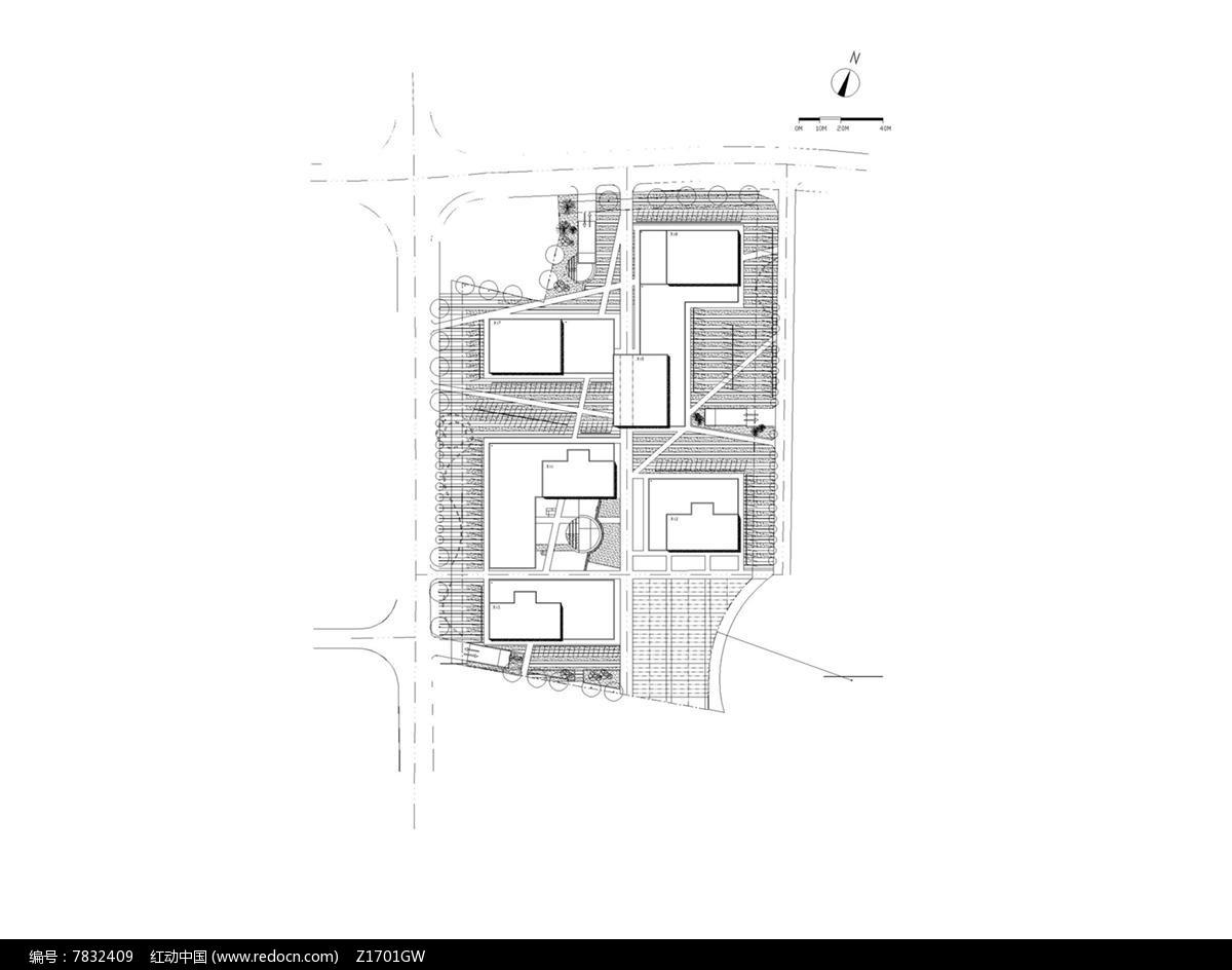 别墅住宅区景观设计图图片