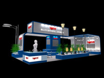 景观灯具展厅模型 max