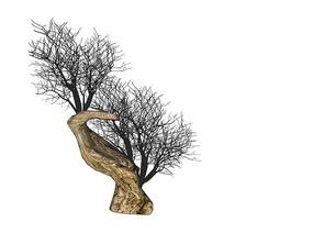 枯树老桩SU模型