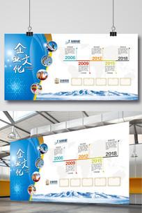 企业文化墙企业发展历程展板