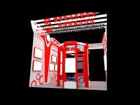 中国红商品展厅模型