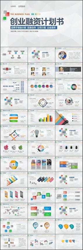 简洁大气商业策划书创业计划项目投资PPT模板