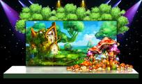 唯美梦幻大自然森林绿色主题婚礼婚庆背景