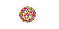 彩色圆球化学分子球
