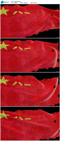 带透明通道破损的八一军旗
