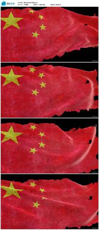 带透明通道破损的五星红旗