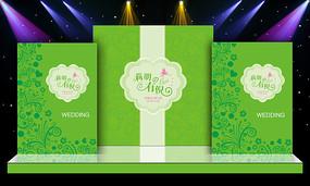 唯美大气绿色婚礼婚庆舞台造型设计 PSD