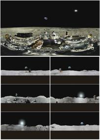 2K超清太空月球实拍360VR全景视频素材