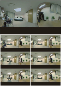 2k超清学生美女读书学习360vr全景视频素材