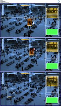 车站大厅监视锁定目标实拍视频素材