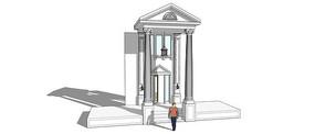 欧式别墅大门模型