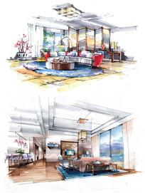 中式现代餐厅室内设计
