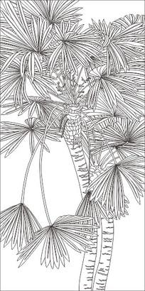 棕树叶子编青蛙图片