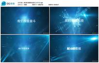 AECS6 震撼科技蓝色文字片头