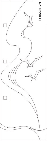 原创设计稿 装饰画/电视背景墙 雕刻图案 大雁归南雕刻图案