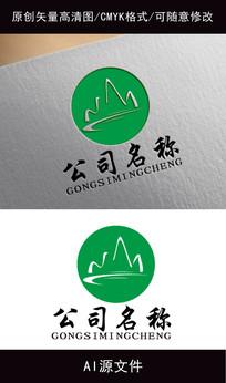 高端企业绿色logo创意设计 AI