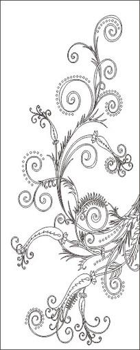 欧式经典花纹瓶标