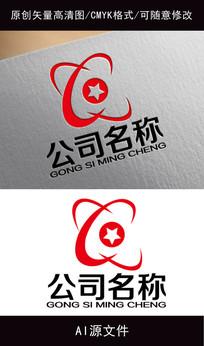 企业动感科技logo创意设计
