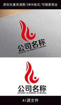 企业火焰logo创意设计