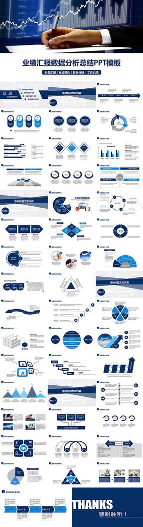 业绩汇报数据分析总结PPT模板