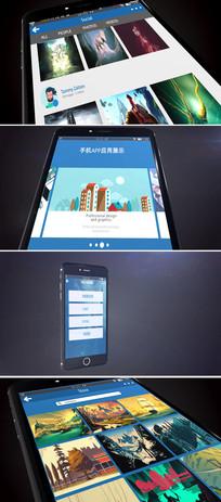 ae手机app应用推广展示模板