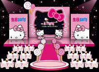 宝宝儿童生日宴会主题背景设计 CDR