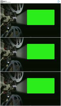 电影放映机绿屏抠像前景包装高清视频素材