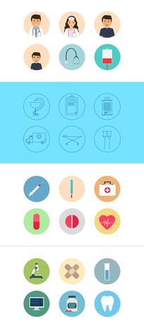 多个医疗医学动画图标模板
