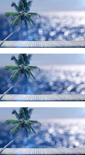 海南三亚海边度假旅游椰树观景视频素材