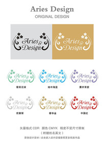 婚礼英文字体CDR清新花朵圆点