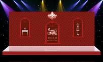 经典中国红唯美主题婚礼婚庆背景设计 PSD