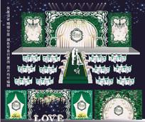 唯美森系主题婚礼迎宾区布置背景